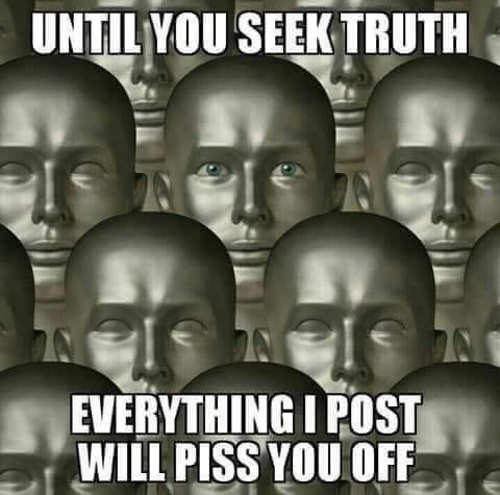 message until you seek truth everything i post will piss you off