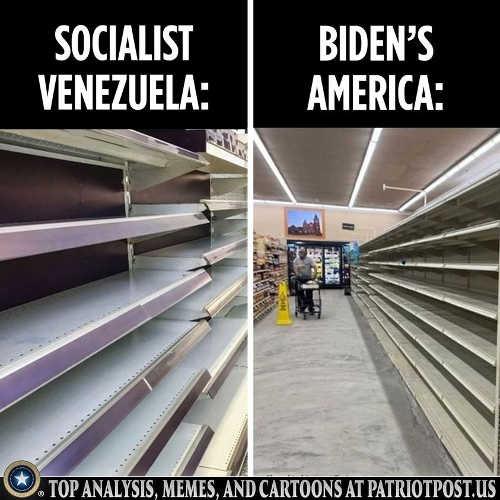 socialist venezuela empty shelves bidens america