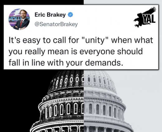 tweet brakey unity calls fall in lines comply demands