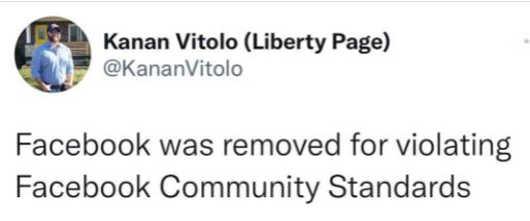 tweet facebook vitolo removed violating fb standards