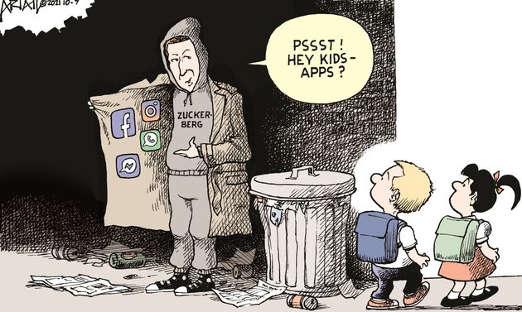 zuckerberg jacket hey kids facebook instagram whatsapp