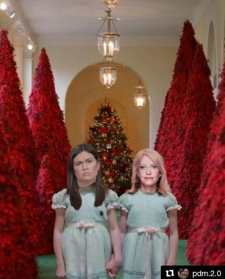 20 Hilarious Memes Mocking Melania Trump S Blood Red Christmas Trees The Political Punchline