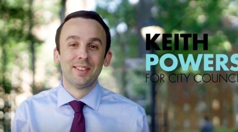 'ONE OF OUR OWN IN CITY HALL' - KEITH POWERS