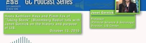 Bloomberg Radio: Janet Gornick on the History & Purpose of LIS