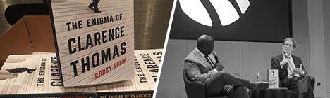"Corey Robin and Kendall Thomas, ""The Enigma of Clarence Thomas: A Conversation"" Wednesday, December 4, 6:30pm"