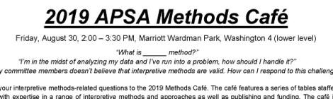 2019 APSA Methods Café
