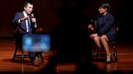 Alum Adrienne Jones Interviews Presidential Candidate Pete Buttigieg