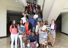 group photo at the School of Sciences