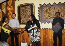 Josiane receives her certificate