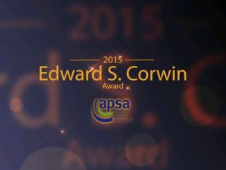 2015 Edward S. Corwin Award