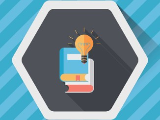 light bulb over books flat icon with long shadow,eps10