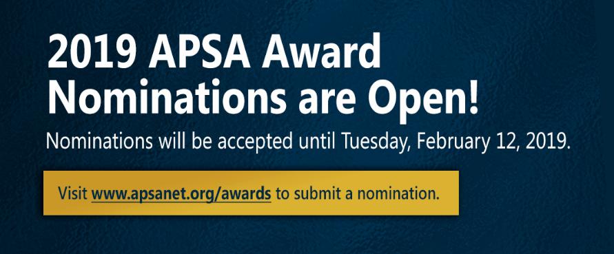 apsa dissertation awards