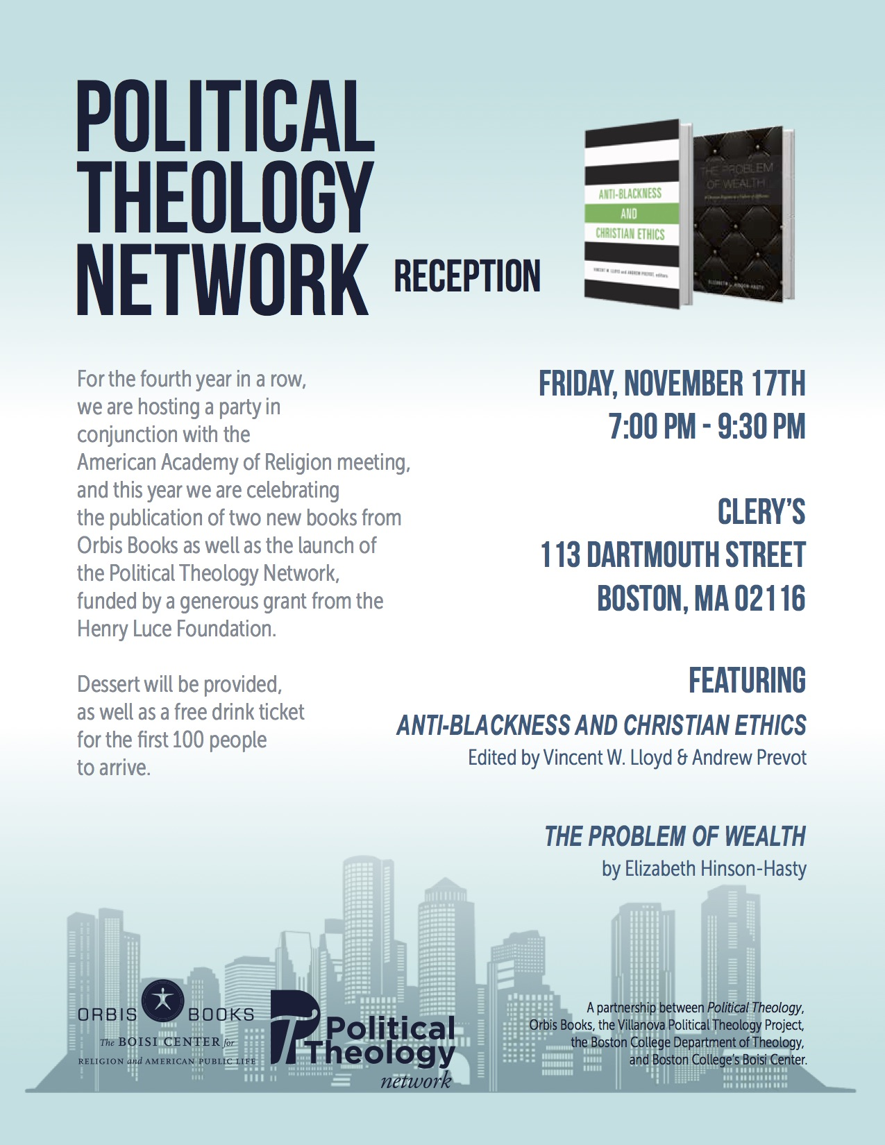 Annual Reception For Political Theology At 2017 Aar-Sbl Meeting – You Are  Cordially Invited | Political Theology Network