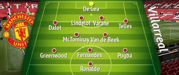 3 Ways Man United Could Line Up Against Villarreal After Ole Gets Questioned Over 4-2-3-1 Formation 3
