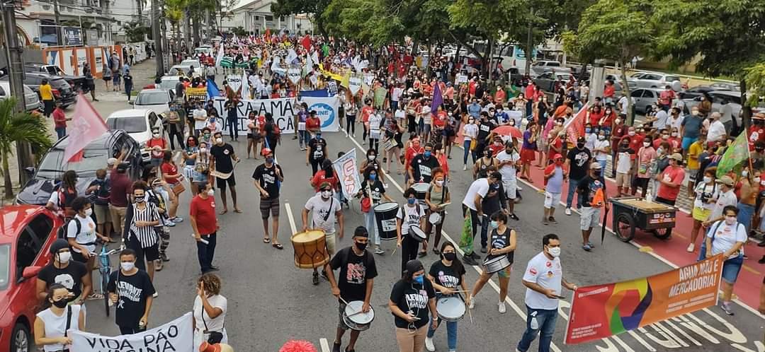 Sábado de protestos em João Pessoa e Campina Grande pelo impeachment de Bolsonaro