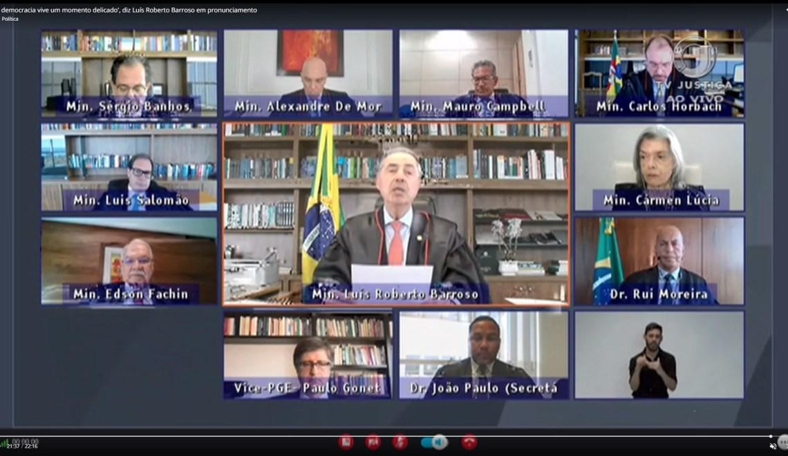 """""""Conhecerás a mentira e a mentira te aprisionará"""", diz Barroso. Veja vídeo"""