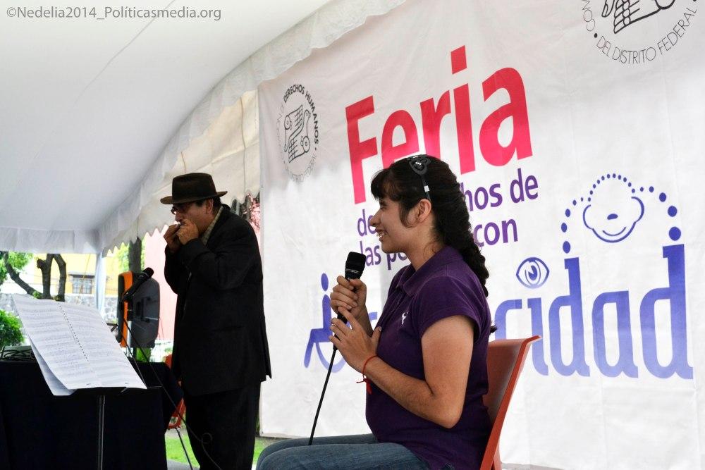 Músicos en la 4ta Feria de los Derechos de las Personas con Discapacidad en la CDHDF.
