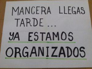 Fotografía tomada de las manifestaciones en contra de las Zonas de Desarrollo Económico y Social (ZODES)