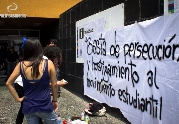 Fotografía: Mónica Olivares | Mitin en Rectoría de CU