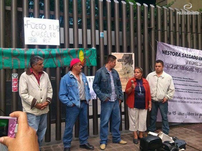 Clausura simbólica de la Dirección General de Centros Penitenciarios, Ciudad de México. Fotografía: Ernesto Funesto_2015.
