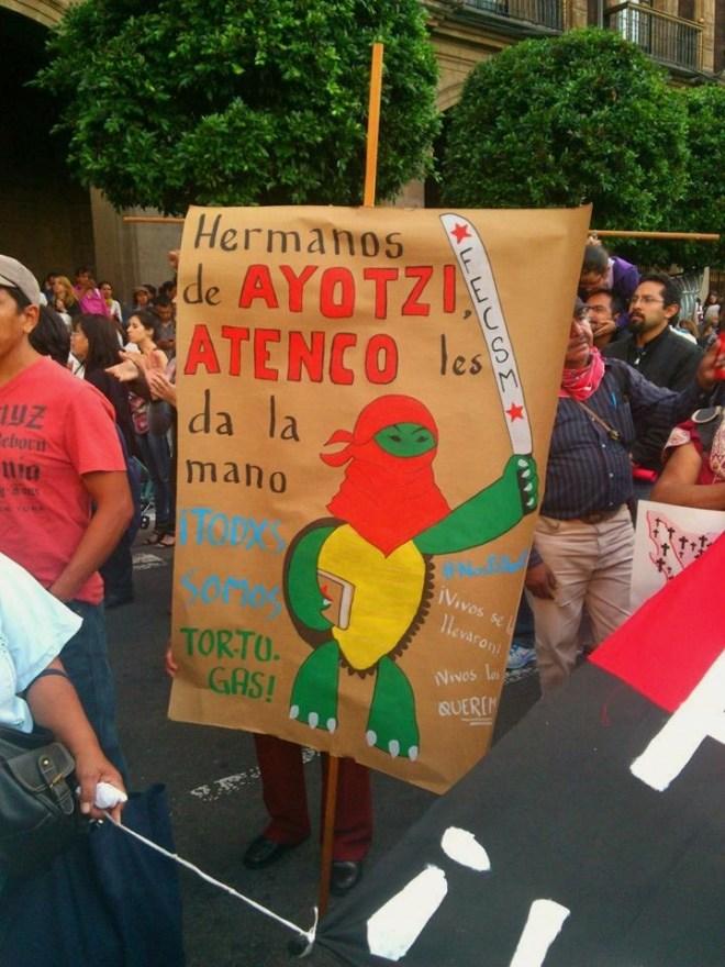 8 de octubre de 2014: ¡Todxs somos tortugas! Fotografía: Ernesto Funesto Mondragón