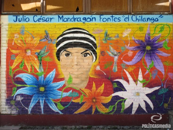 Mural en la normal rural Raúl Isidro Burgos de Ayotzinapa, Guerrero. Fotografía: Alejandro Cardiel | Políticas Media.