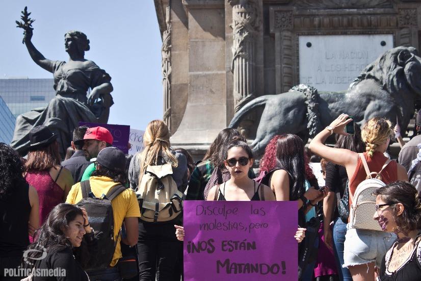 Manifestación contra los feminicidios y transfeminicidios en la Ciudad de México. Fotografía: Mónica Olivares | Políticas Media.
