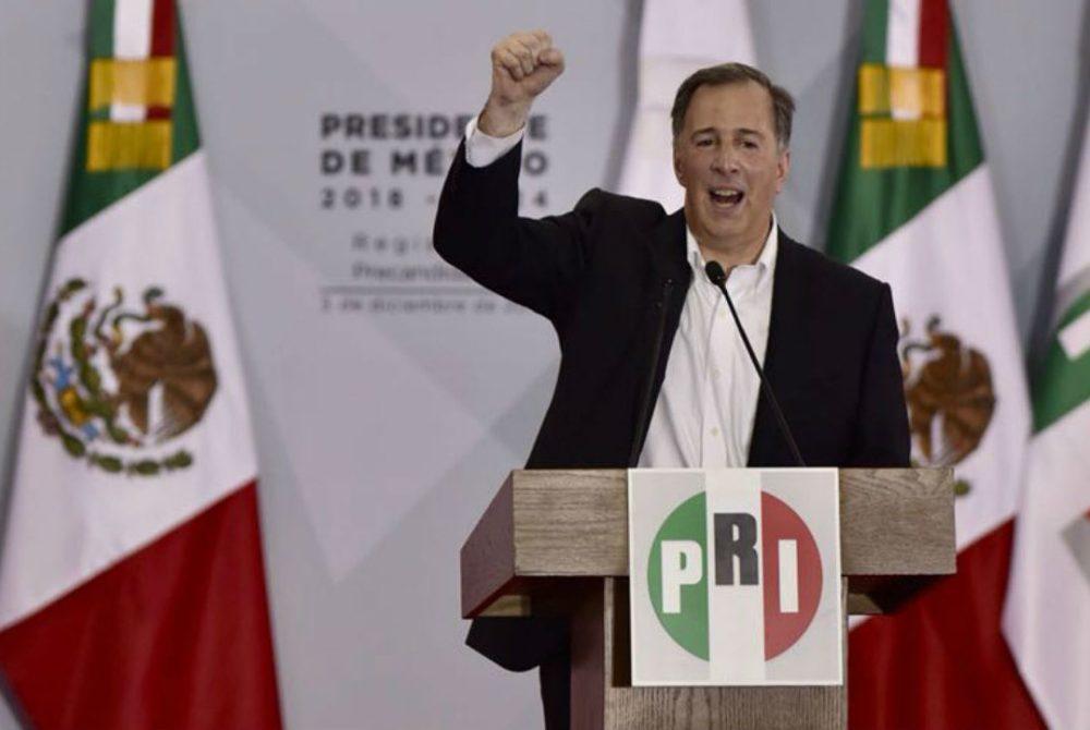 Meade al dar su discurso como precandidato presidencial único del PRI. Foto: Germán Canseco_PROCESO