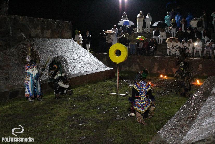Inauguración de la Cancha Monumental de Juego de Pelota Prehispánica en el Centro Cultural Tolteca de Teotihuacán, 2 de noviembre de 2018. Foto: Tlaliztitzin Arellano.