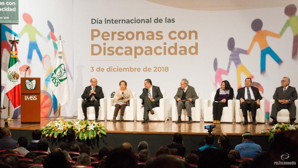 """Evento """"Día Internacional de las Personas con Discapacidad"""" del Instituto Mexicano de Seguro Social (IMSS), 03 de diciembre de 2018. Foto: Paty Olivares."""