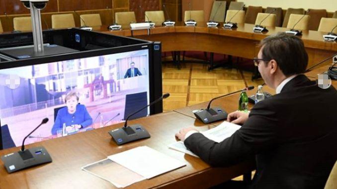 Vučić i Merkel završili video-sastanak
