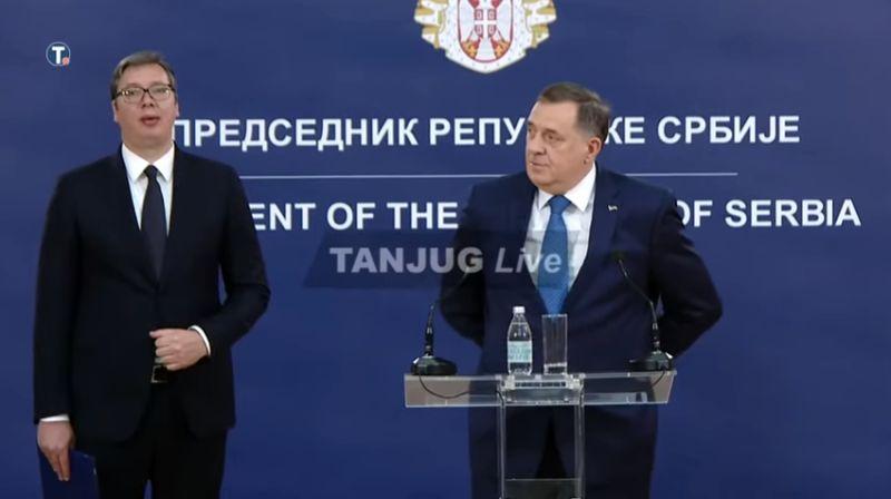 Dodik se pridružio Vučiću u izdaji, pozvao Srbe da izađu na kosovske izbore