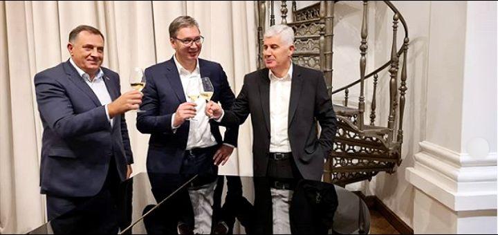 """Vučić ugostio Čovića i Dodika: """"Razgovor prijatelja"""" (FOTO)"""