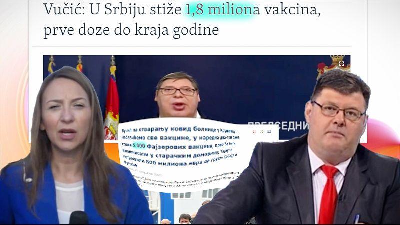 Milenković o smradovima koji žive od lakiranja stvarnosti, i kud se dede 1.795.000 vakcina