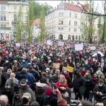 Masovni protest u Ljubljani protiv vlade Janeza Janše (VIDEO)