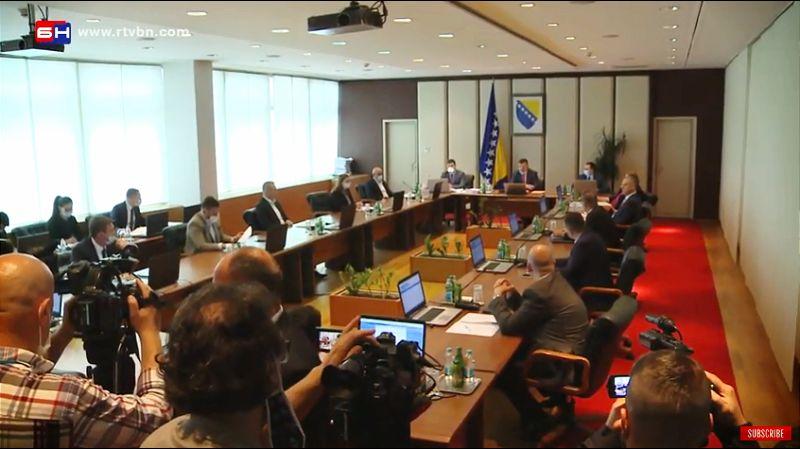 Savet ministara BiH usvojio odluku o privremenom finansiranju,  učestvovali i ministri iz Republike Srpske.