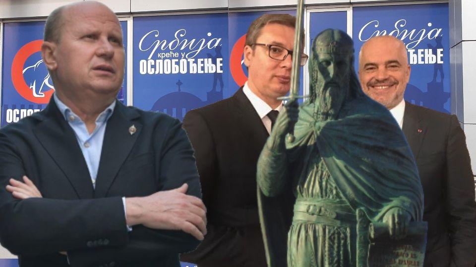Đorđević Vučiću: Izjasni se o Kosovu, pusti spomenike, ne mogu oni sakriti tvoju IZDAJU