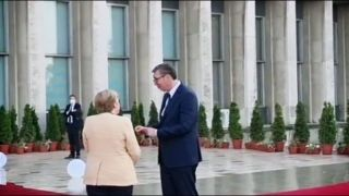 Angela Merkel doputovala u Beograd (VIDEO)