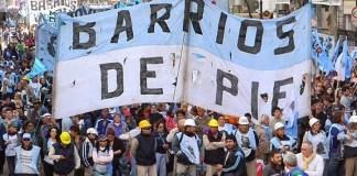 Barrios de Pie en contra de las políticas de Cambiemos
