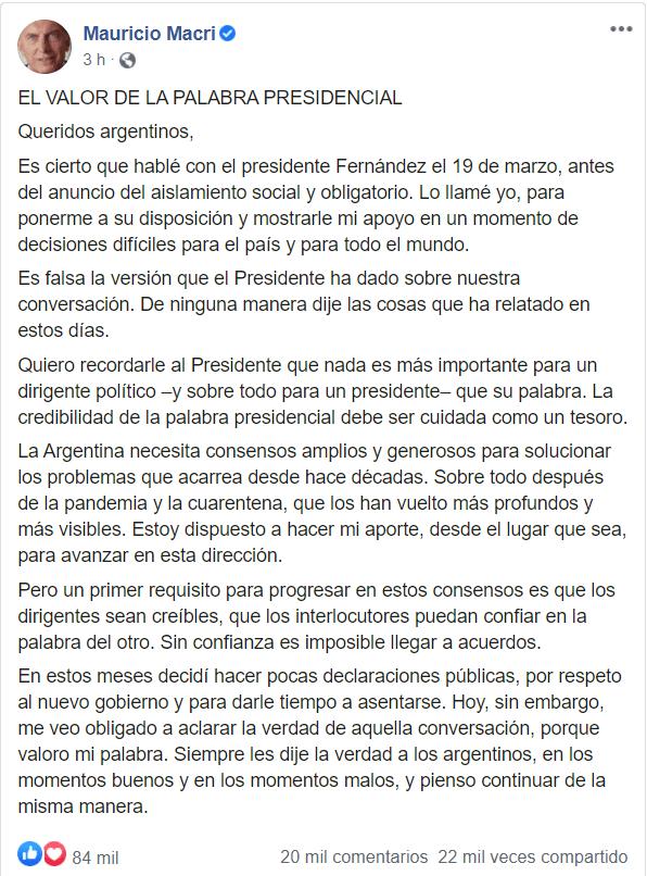Juntos por el Cambio le respondió a Alberto Fernández 1