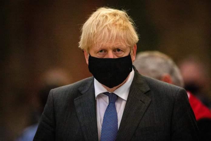 Boris Johnson está asustado por la pandemia