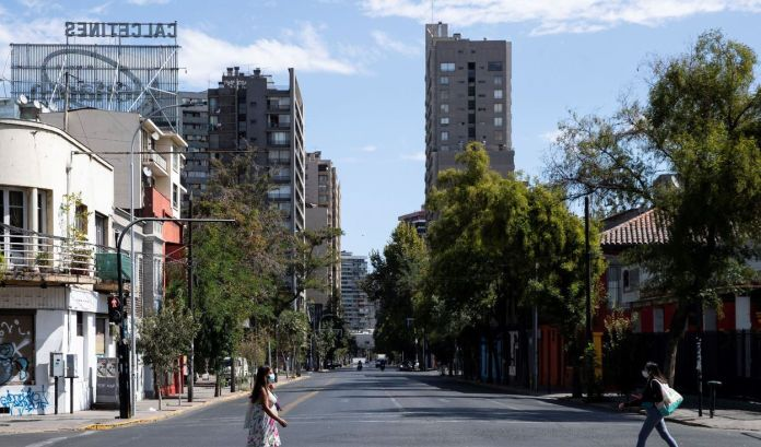 Caos sanitario en Santiago de Chile