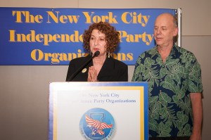 June Hirsh at the NYC Independence Party Spring Chairman's Reception, June 2014