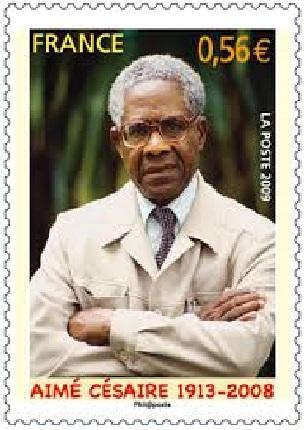 Aimé Césaire commemorative stamp