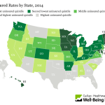 Gallup Uninsured Rates by State 2014