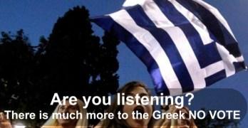 Greek No Vote