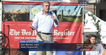 Jeb Bush channels brother's 'you are with us or against us' moment at the Iowa State Fair