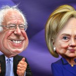 Democrats Bernie Sanders & Hillary Clinton
