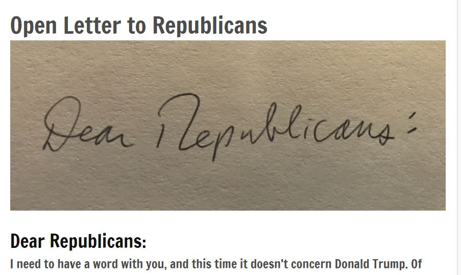 Will Republicans listen to this open letter? They definitely should.