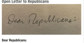 Open Letter to Republicans